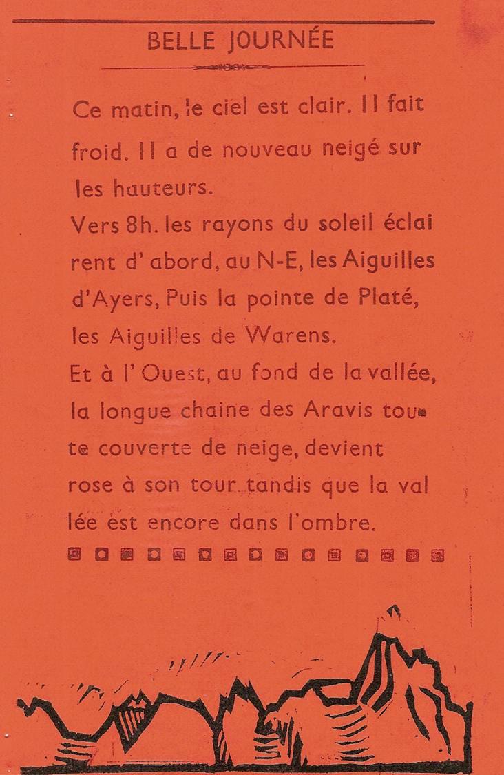 Journal scolaire de Passy-Chedde, « La grande Chute», octobre-novembre- décembre 1951, p. 7 Belle journée