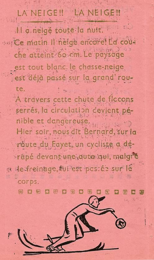 Journal scolaire de Passy, « Face au Mont-Blanc », janvier-février 1952, p. 2
