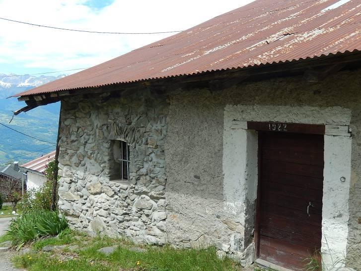 Monfort, mai 2014, atelier Architecture de montagne : un bâtiment de 1922 (cliché Bernard Théry, 19 mai 2014)