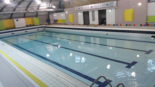 Le nouveau bassin de la piscine de Passy-Marlioz (cliché mairie, mai 2014)