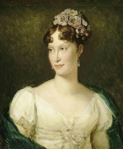 Portrait de l'Impératrice Marie-Louise (détail) par François Gérard (1770–1837) (Paris, musée du Louvre © Rmn)