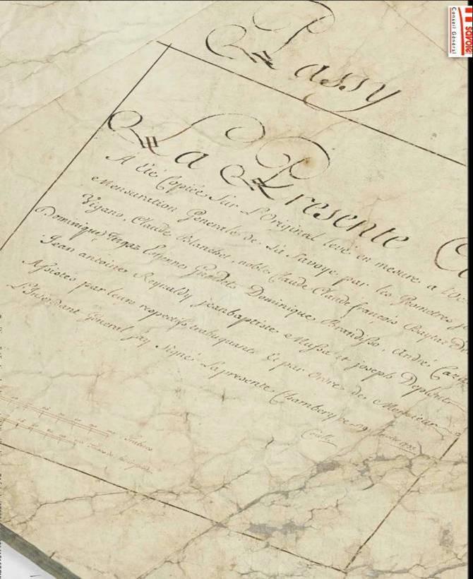 Archives départementales : Copie de la mappe de Passy (images 40 et 47/65). Cartouche de Passy (Vatusium n° 17, p. 17 et 19) ; voir transcription ci-dessous.