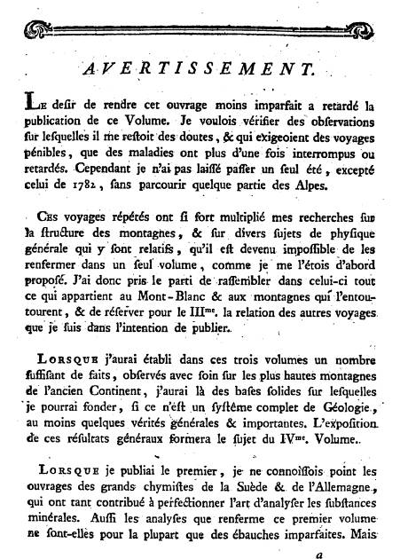 Avertissement du tome II (site gallica BNF)