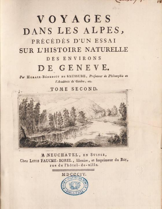 Page de titre du tome second, avec gravure de M. T. Bourrit (site e-rara)