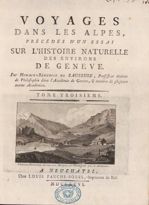 Page de titre du tome III, avec gravure de M. T. Bourrit (site e-rara)