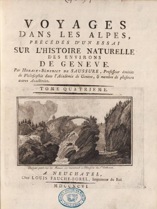 Page de titre du tome IV, avec gravure de M. T. Bourrit (site e-rara)