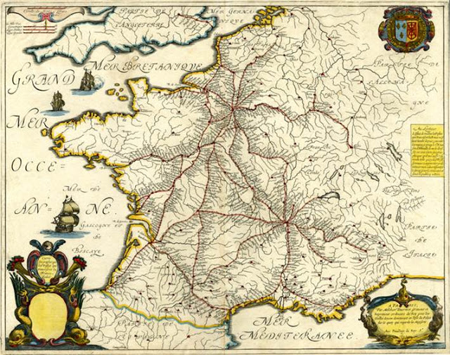 Carte de France de Nicolas Sanson, 1632 (source Internet)