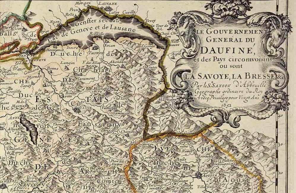 Carte du Dauphiné, par Nicolas Sanson, 1652