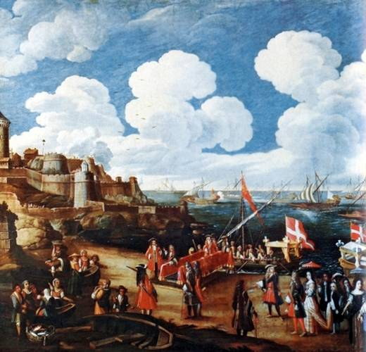 Embarquement de Victor-Amédée II pour Palerme