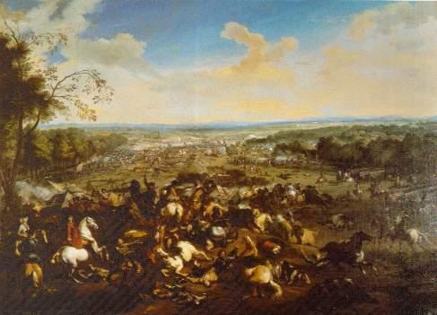 Bataille de Malplaquet vue du côté des coalisés autrichiens et hollandais (Wikipedia )