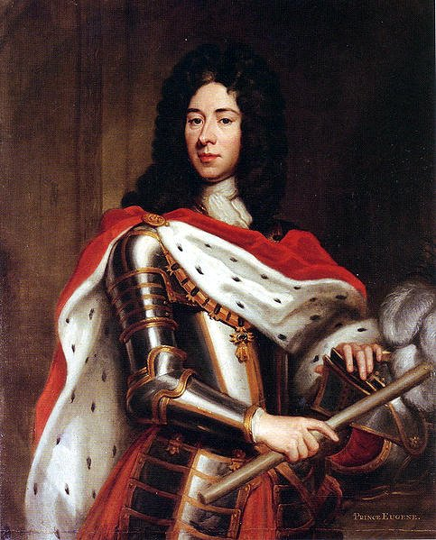 Eugène de Savoie dans un portrait de 1712,  école de Godfrey Kneller.