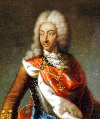 Détail du portrait de Victor-Emmanuel II en 1706 pendant le siège de Turin, par M. G. B. Clementi