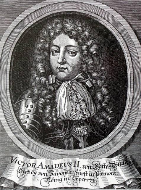 Victor-Amédée II de Savoie, gravure allemande (Source Internet)