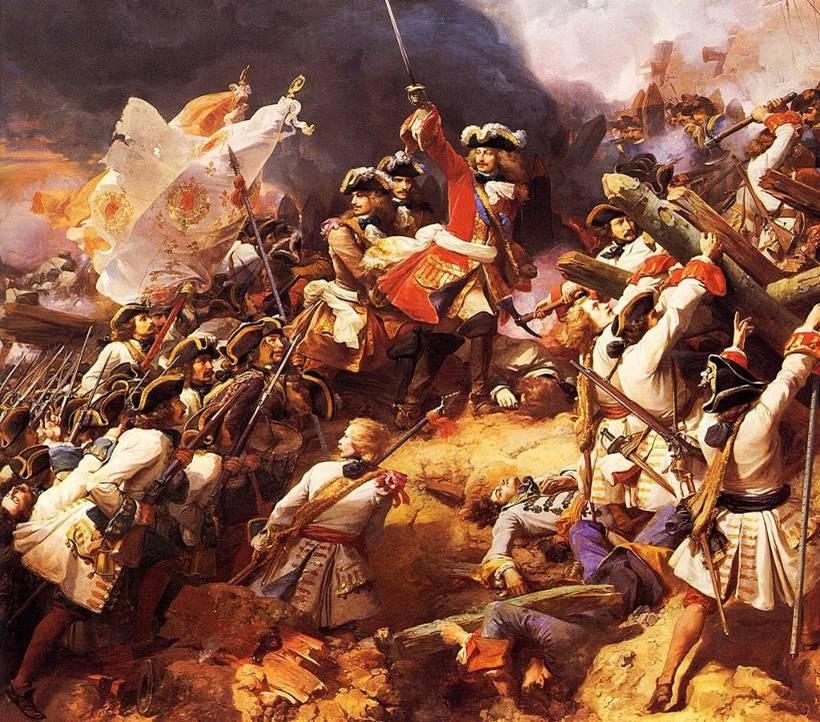 Villars à la Bataille de Denain, 22 juillet 1712 (artiste inconnu)