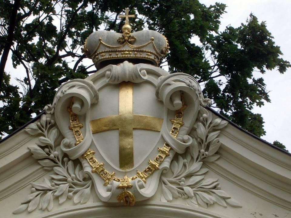 Blason d'Eugène de Savoie, jardin du Palais du Belvédère à Vienne (cliché Bernard Théry)