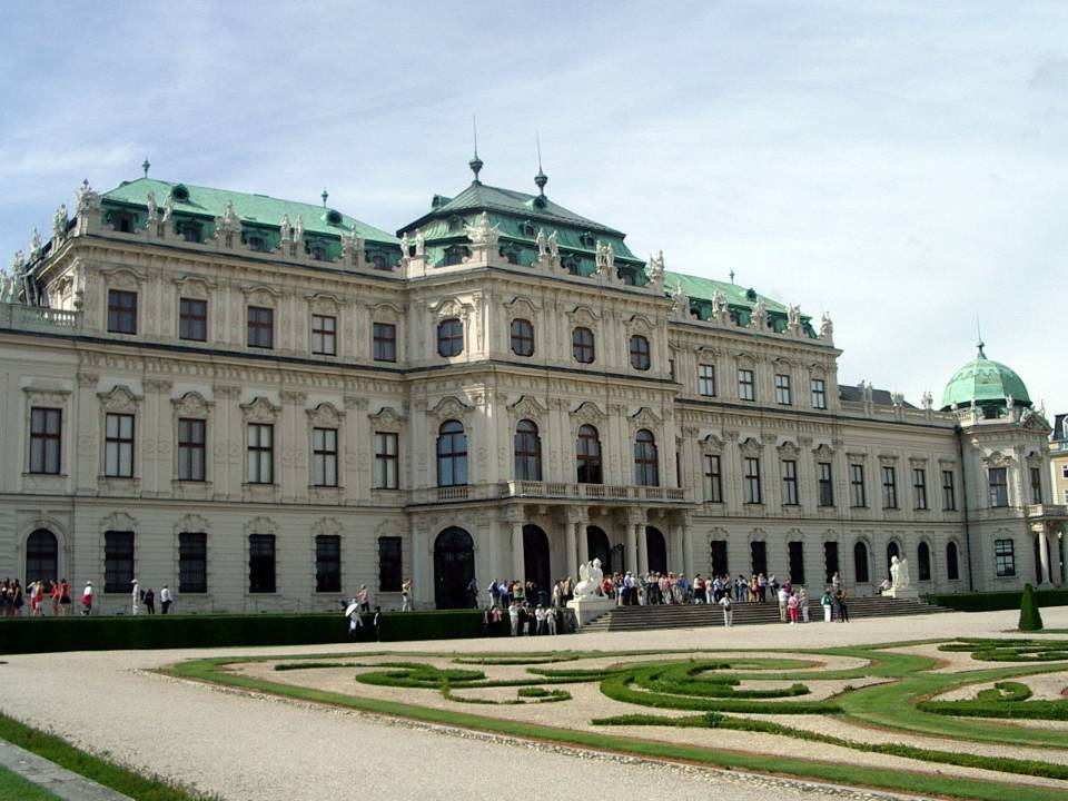 Palais du Belvédère à Vienne, côté jardin (cliché Bernard Théry)