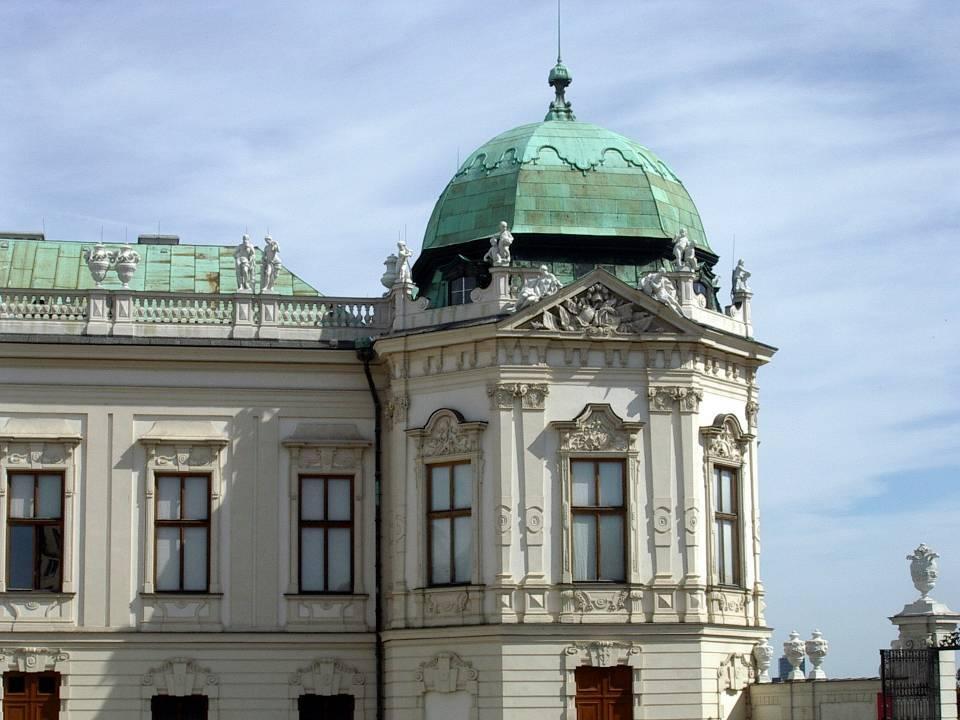 Palais du Belvédère à Vienne : une des tours d'angle à l'allure ottomane (cliché Bernard Théry)