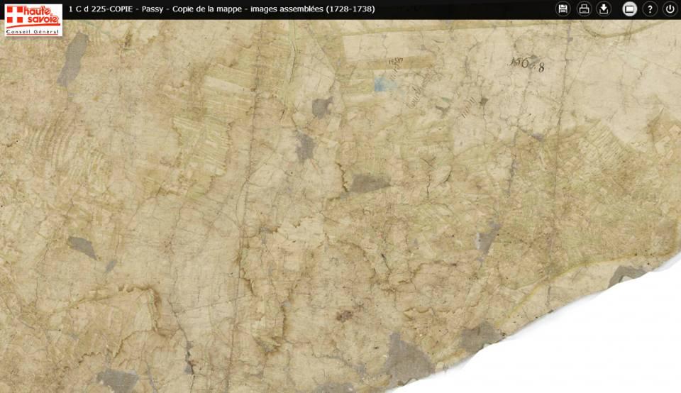 Mappe sarde de Passy, image 3/12, 5%, orientée est-ouest ; Dingy