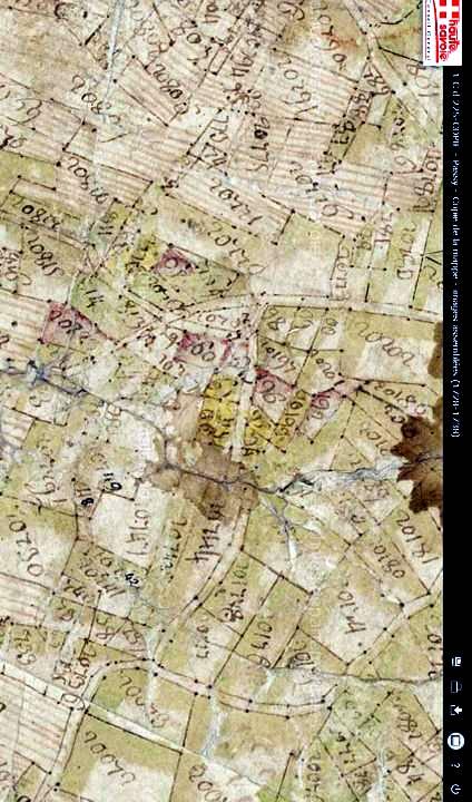Mappe sarde de Passy, image 3/12, 80%, réorientée nord-sud, détail : la Size