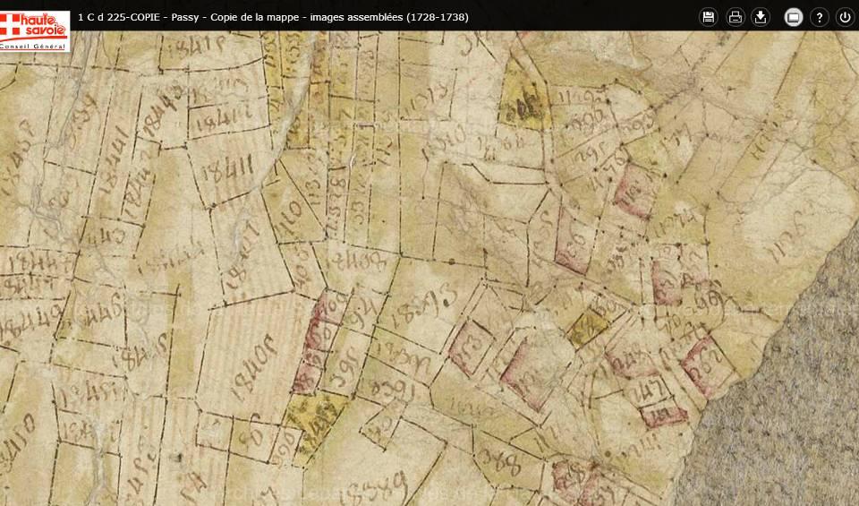Mappe sarde de Passy, image 5/12, 80%, détail : La Motte