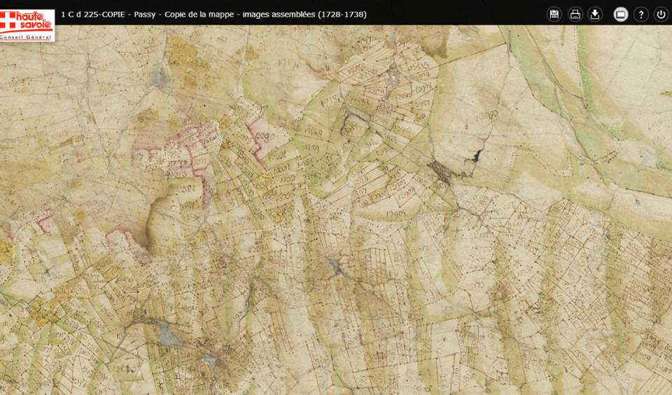 Mappe sarde de Passy, image 5/12, 30%, détail : Joux