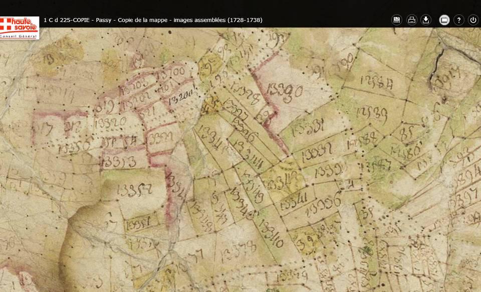 Mappe sarde de Passy, image 5/12, 80%, détail : Joux