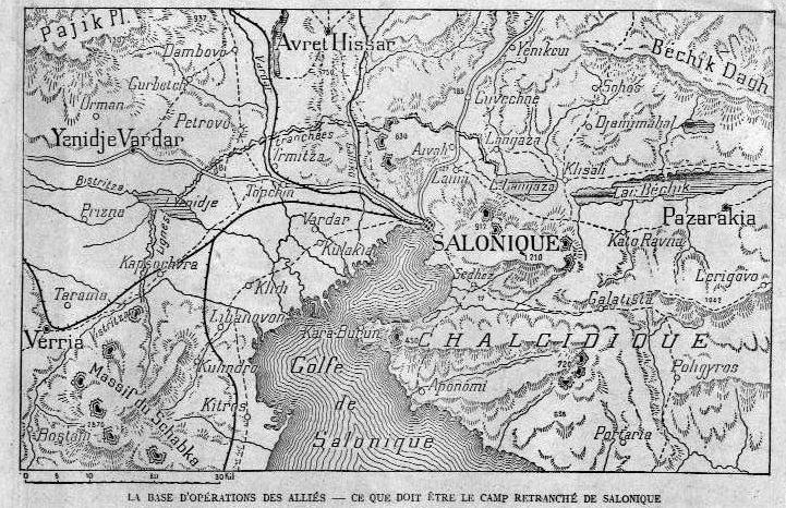La base d'opérations des Alliés. Le camp retranché de Salonique en décembre 1915 (site Pays de France)