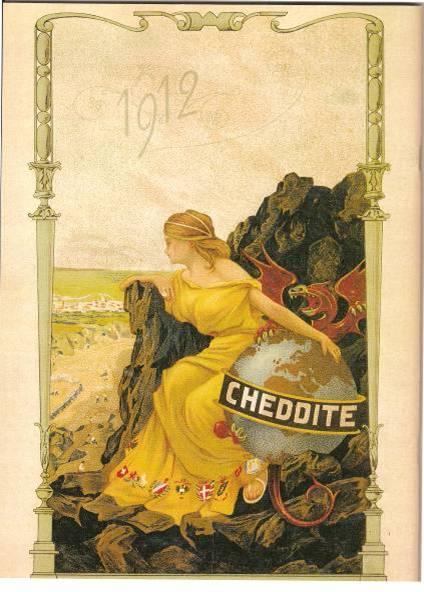 « Réclame » de 1912 pour la Cheddite (Doc. Internet)
