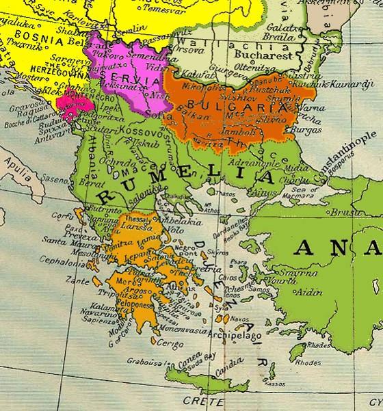 Carte des Balkans 1878-1912 (Internet)