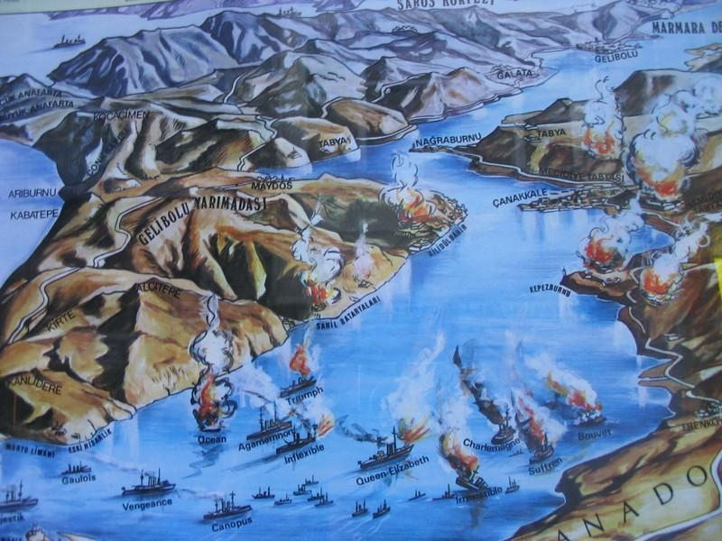 """La """"tragique folie"""" du 18 mars dans le détroit des Dardanelles (site guy.fluchere.free.fr)"""