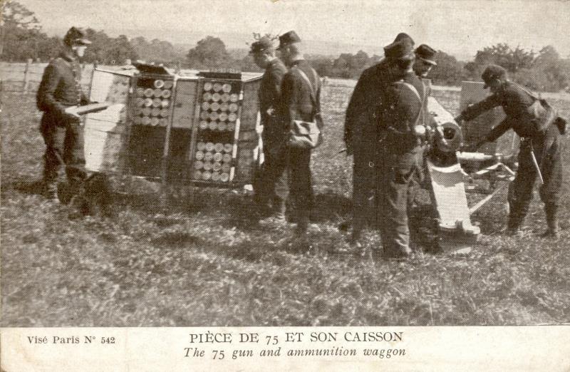 Pièce de 75 et son caisson de munitions (site malvache.com)