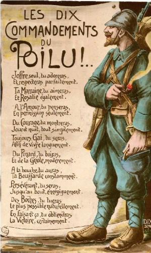 Les Dix Commandements du poilu (site lespoilus.soforums)