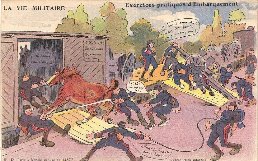 Exercices pratiques d'embarquement » (doc. Famille Devillaz)
