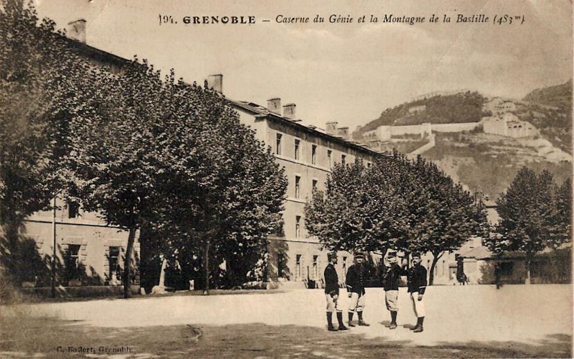 « Grenoble, Caserne du Génie » (Doc. famille Devillaz)