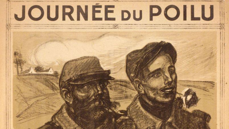 Affiche « Journée du poilu, 25 et 26 décembre 1915 organisée par le Parlement » (site lefigaro.fr/histoire/centenaire-14-18)