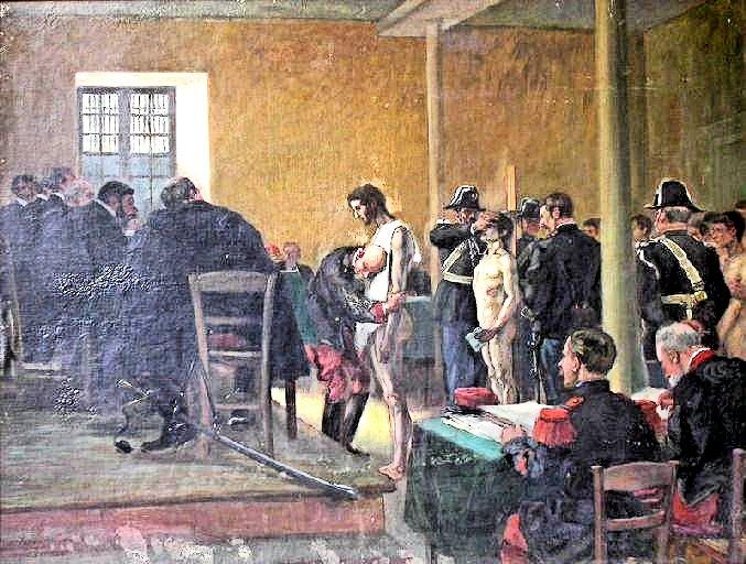 Le conseil de révision par Pierre-Georges Jeanniot (1848-1934), fin du XIXe siècle, Musée des Beaux-Arts de Pau (sources : JOCONDE, portail des collections des musées de France)