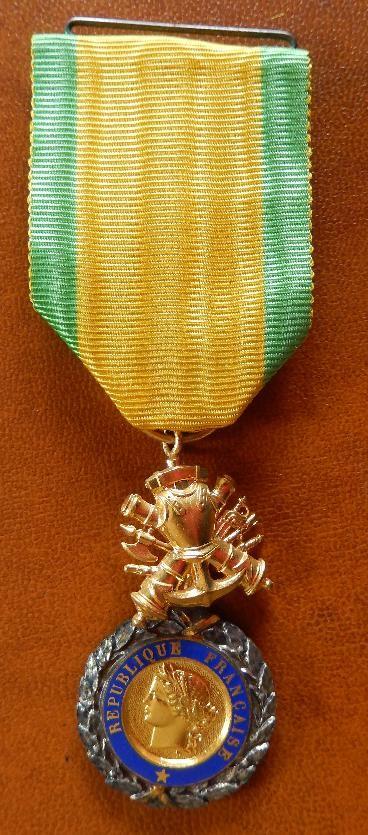 Avers de la médaille militaire (médaille de Georges Toussaint, doc. Jean-Paul Toussaint)