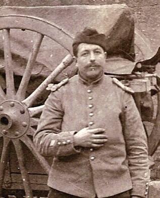 René Michollin sur une carte postale-photo envoyée le 16 février 1915 (doc. Christiane Fivel)
