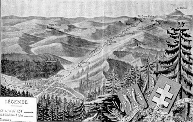 Une idée du relief autour de St-Dié et Raon l'Etape (site raon-l-etape)