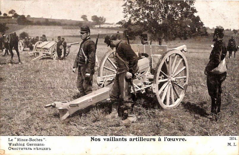 Le « Rince-Boches ». Carte envoyée par Félix Gruz à Marie Bottollier le 11 février 1917 (doc. Famille Devillaz)