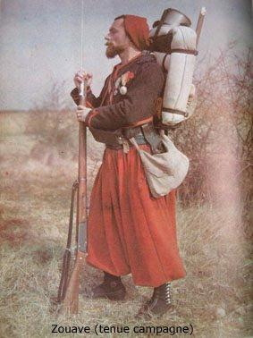 Tenue de campagne du zouave (site sylvain-figsehistoire1914-1944)