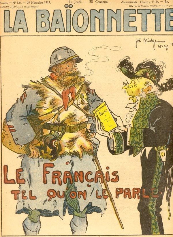 Journal La Baïonnette du 29 novembre 1917 « Le français tel qu'on le parle » (site kaskapointe)