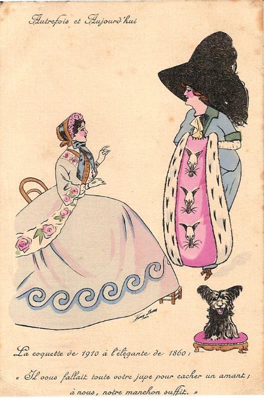 « La coquette de 1910 à l'élégante de 1860 » (doc. Famille Devillaz)