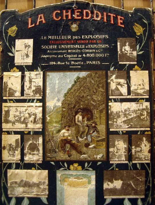 Affiche de 1905 « la CHEDDITE » (Doc. Mémoire de Chedde)