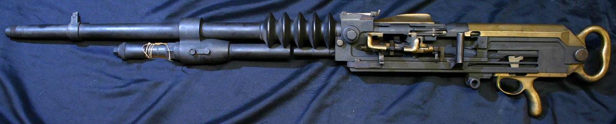 Mitrailleuse Hotchkiss, modèle éclaté (Site mitrailleuse.fr)