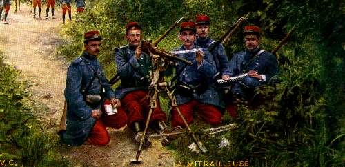 Une mitrailleuse et ses servants en 1914 (site rosalielebel75)