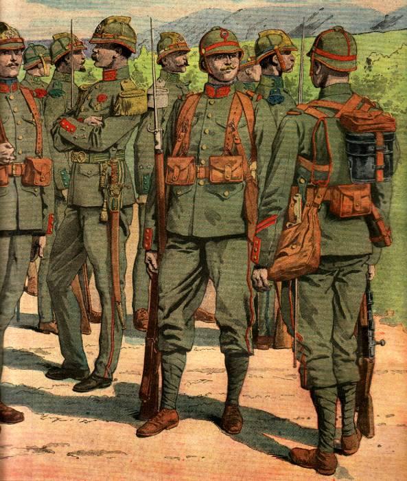 Uniforme réséda testé pour l'infanterie française (site rosalielebel75)