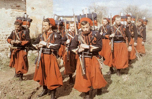 Zouaves en tenue d'hiver (site mudusbellicus)