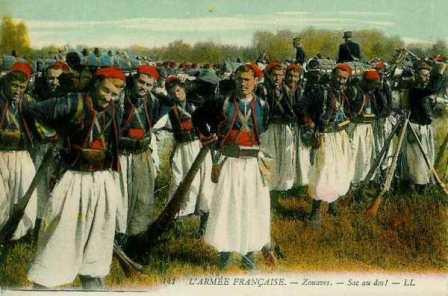L'armée française : Zouaves. Sac au dos ! (site sambre-marne-yser)
