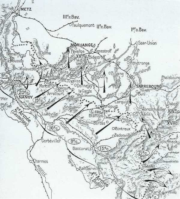 Concentration des troupes, début août 1914